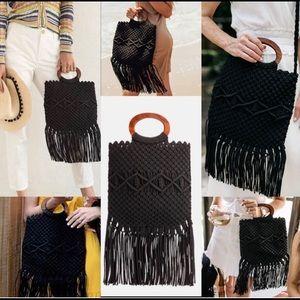 Danielle Nicole Macrame Handbag crossbody purse